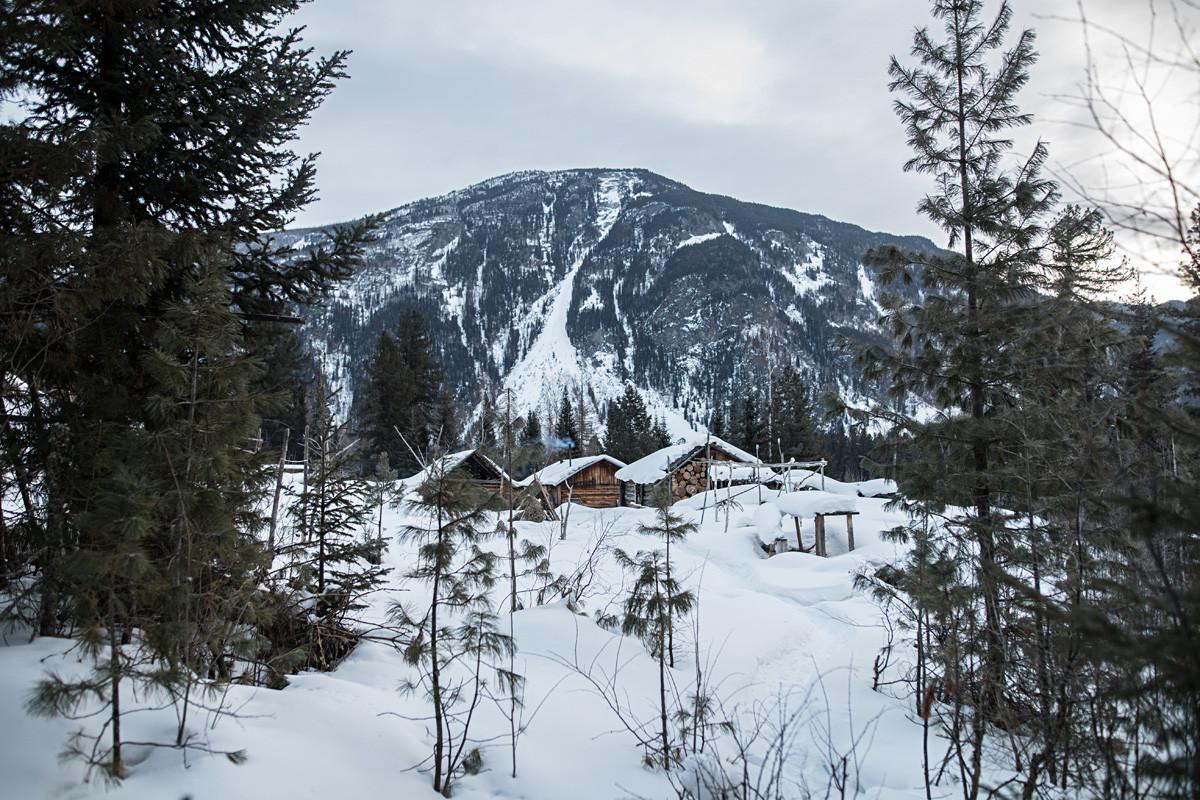 A propriedade da família Likov na reserva natural estatal Khakassi.
