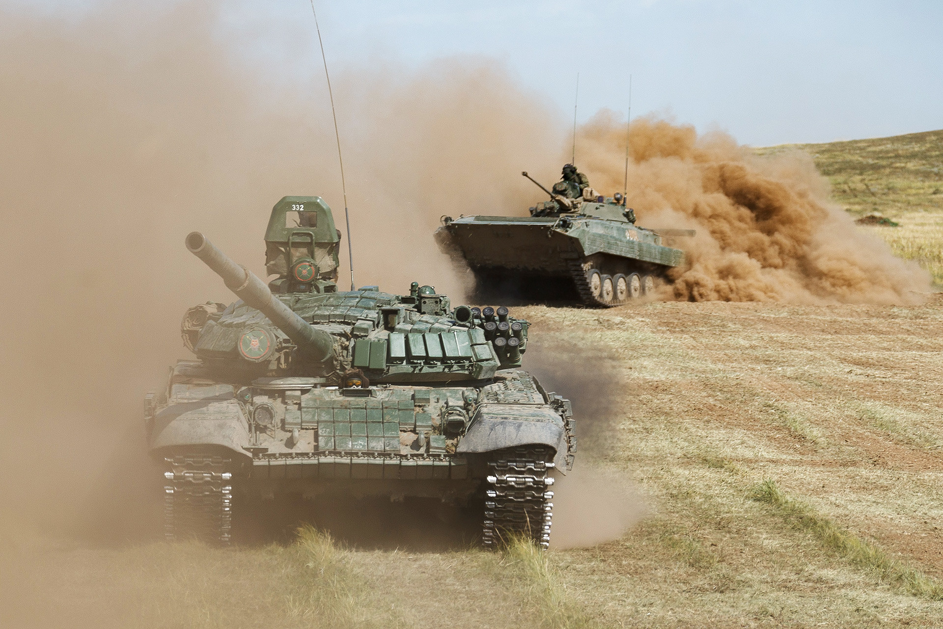 Tanque ruso  T-72B.
