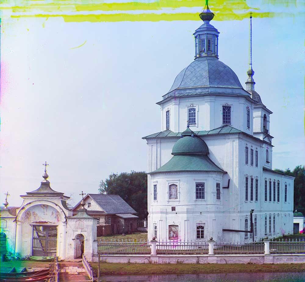 Krokhino. Gereja Kelahiran Kristus, pemandangan dari sisi timur laut. Musim panas 1909.