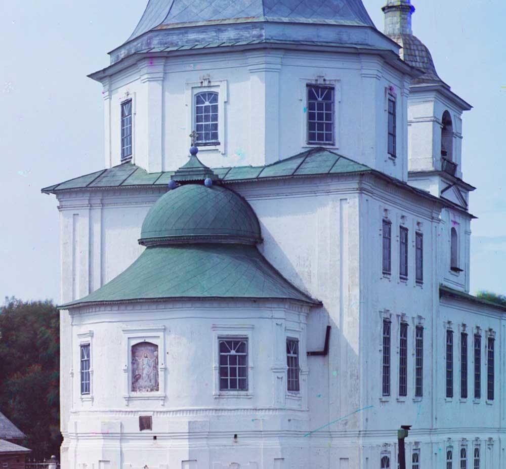 Krokhino. Gereja Kelahiran Kristus, penampakan dari timur. Musim panas 1909.