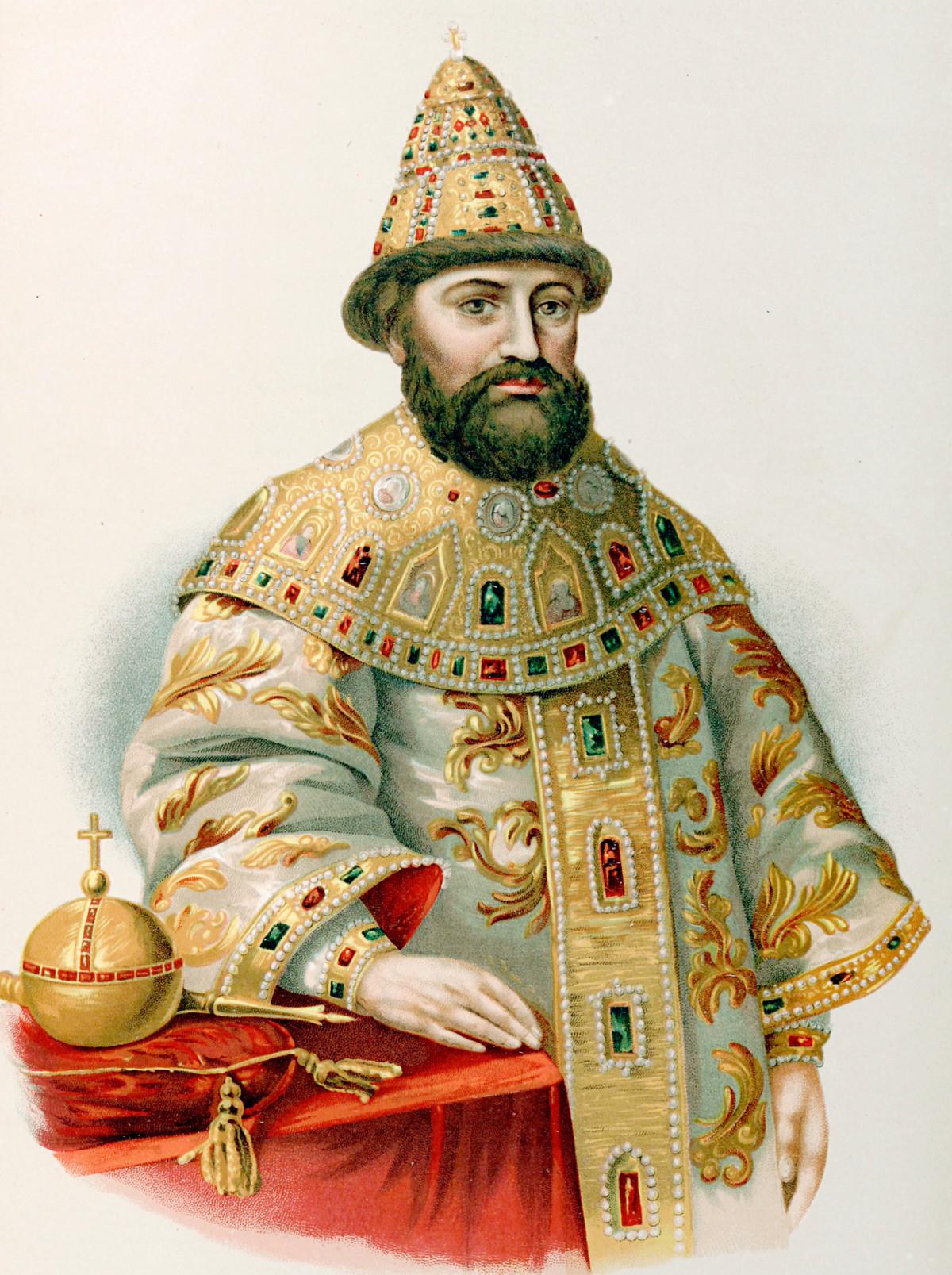 ロマノフ家の最初のツァーリ、ミハイル・ロマノフ。