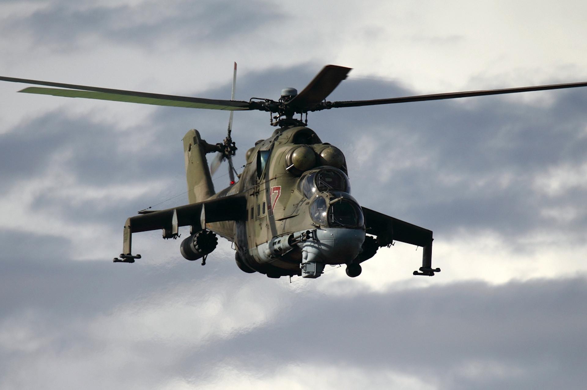 Mi-24 de la Fuerza Aérea de Rusia.