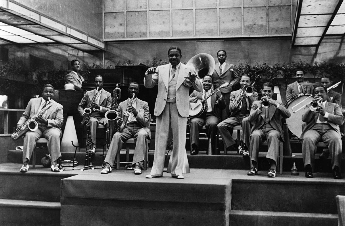 サム・ウッディングのジャズ・バンド。屋上庭園、ベルリン。おそらく1930年4月。