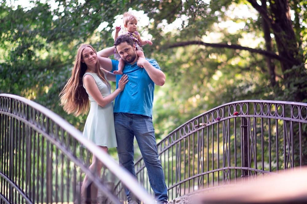 Татјана са мужем Владом и ћерком Алисом