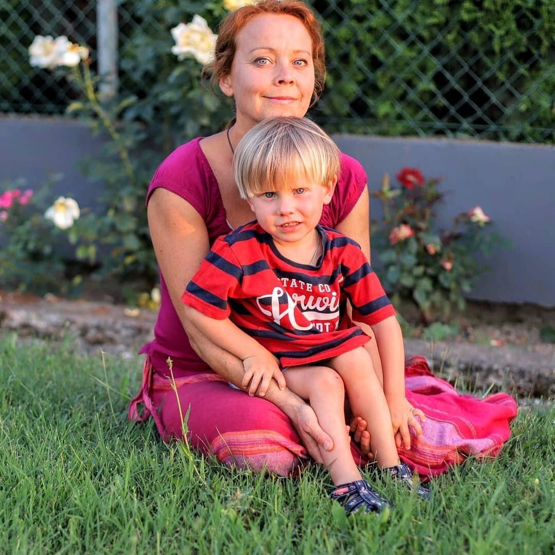 Наталија Михалова са сином Антоном