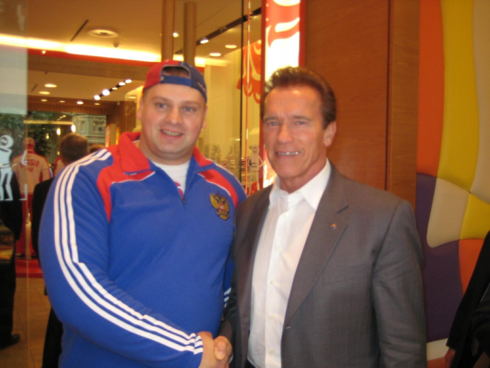 Muromski i Arnold Schwarzenegger
