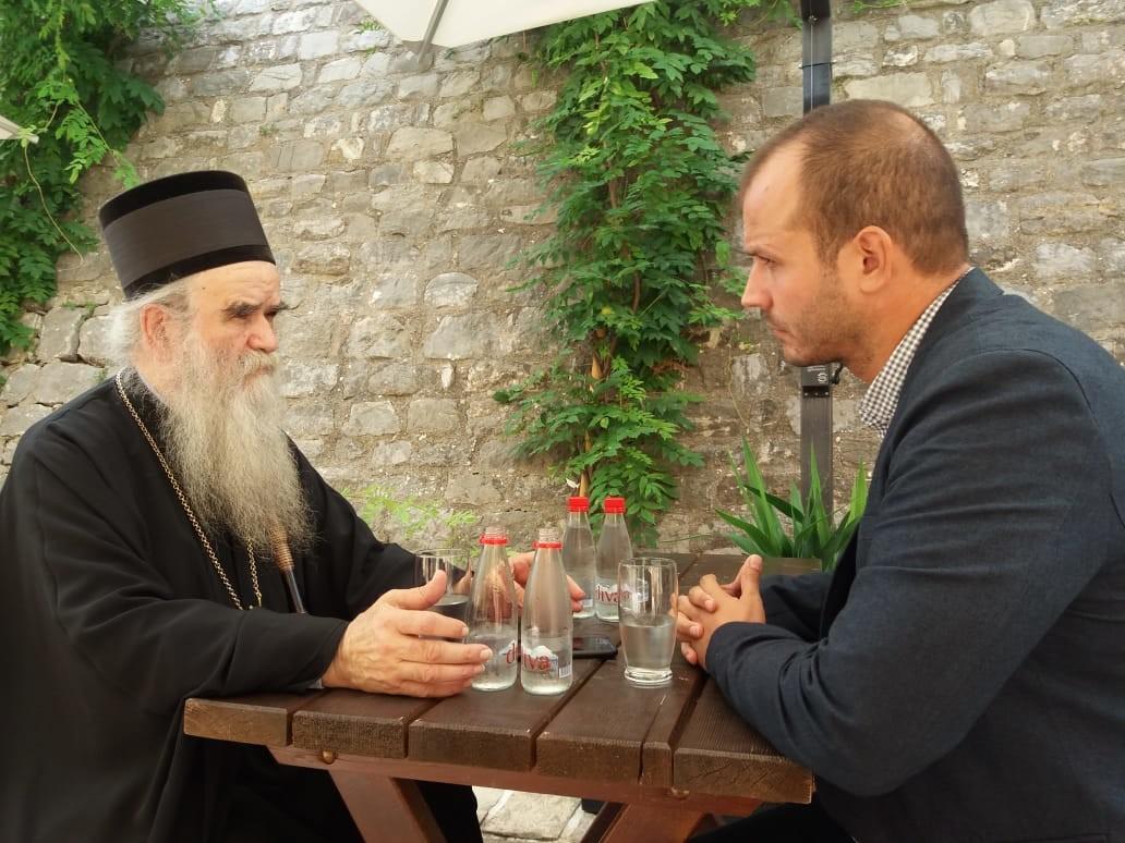 Митрополит црногорско-приморски Амфилохије и Игор Дамјановић