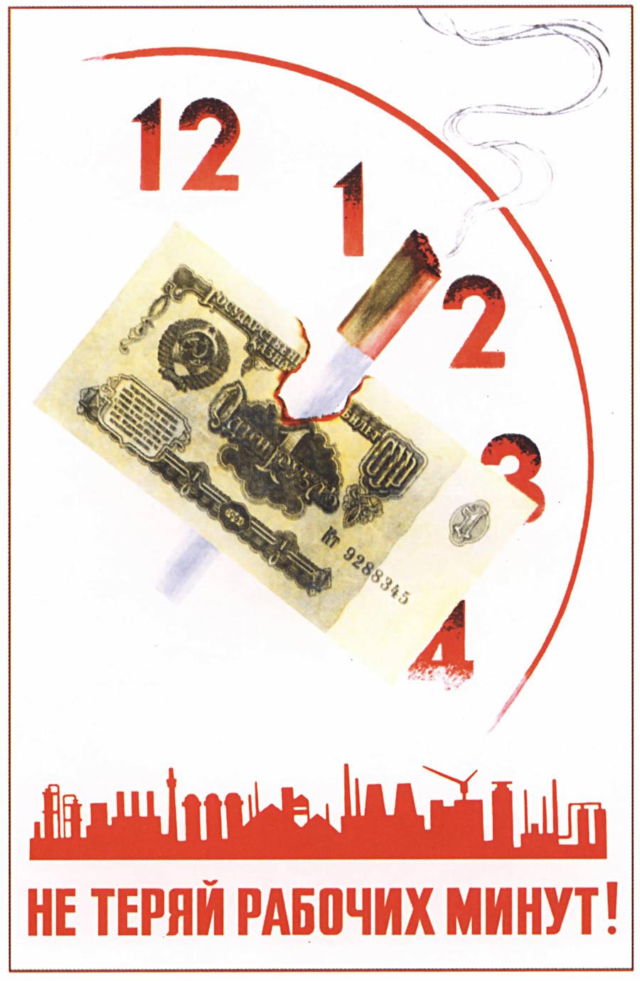 8. ¡No malgastes los valiosos minutos de trabajo!