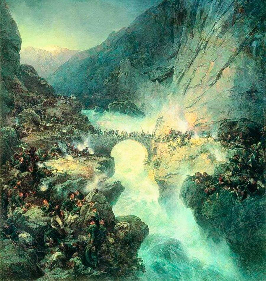 'Suvorov Crossing the Devil's Bridge'