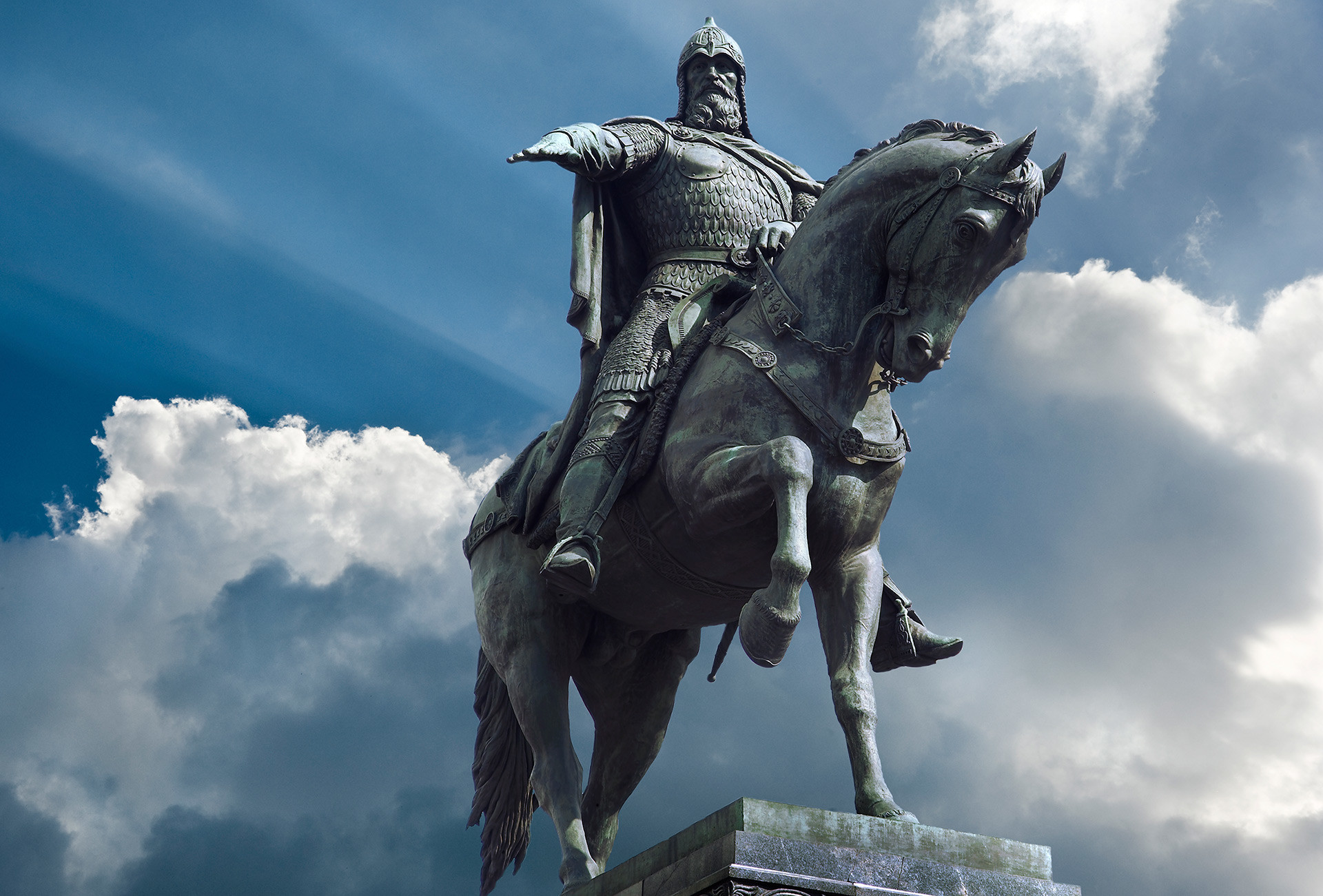Monumen Yuri Dolgoruky di Moskow.