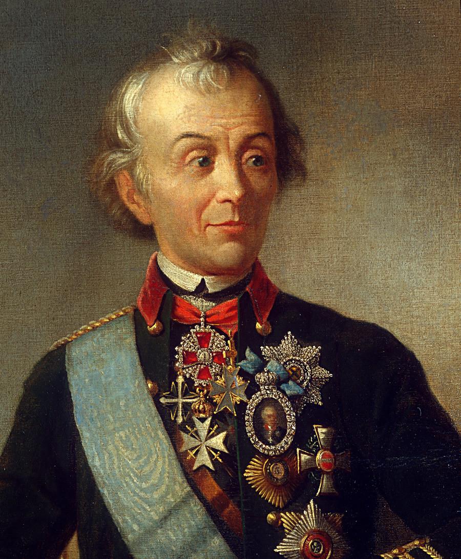 Aleksandar Vasiljevič Suvorov, grof Suvorov od Ramnika, knez talijanski (1729.–1800.), ruski generalisimus i jedan od najvećih ruskih vojskovođa koji nije izgubio nijednu bitku. Art portrait.