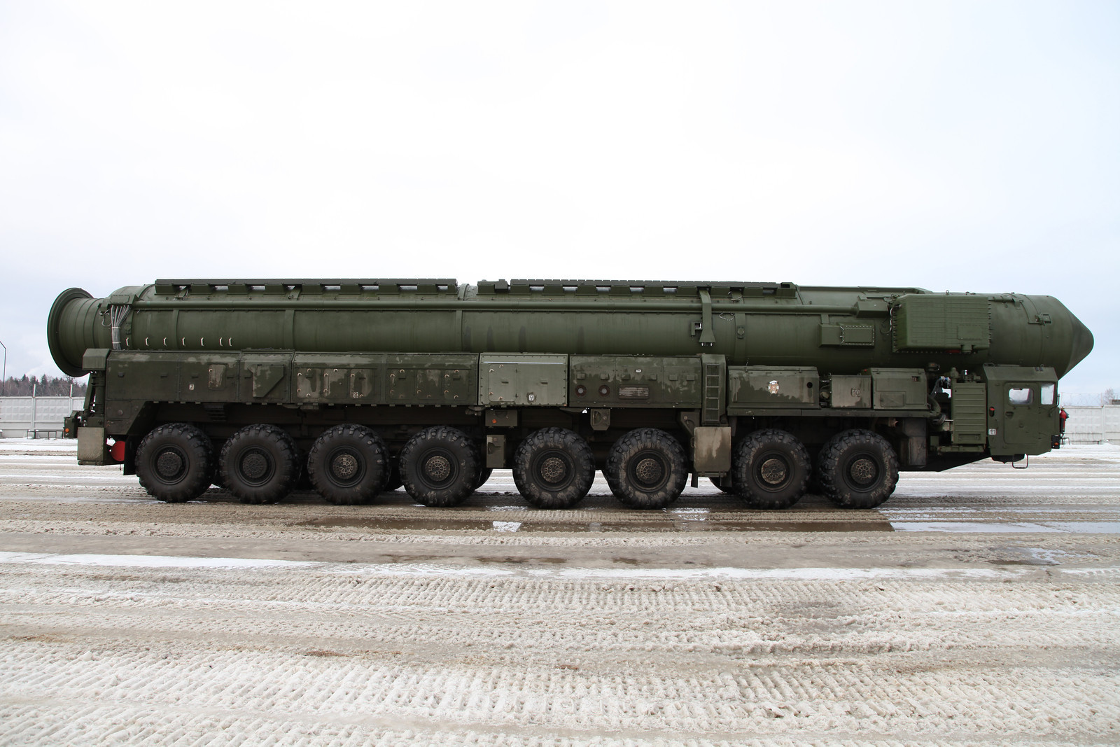 Sistema móvil de misiles Tópol-M, 2012.
