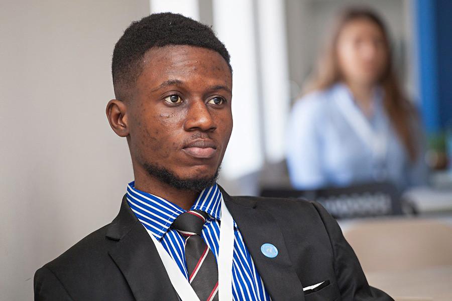 UTMNの数学・コンピュータサイエンス学部で学んでいる、ガーナ出身のDaniel Oene-Agyekumさん