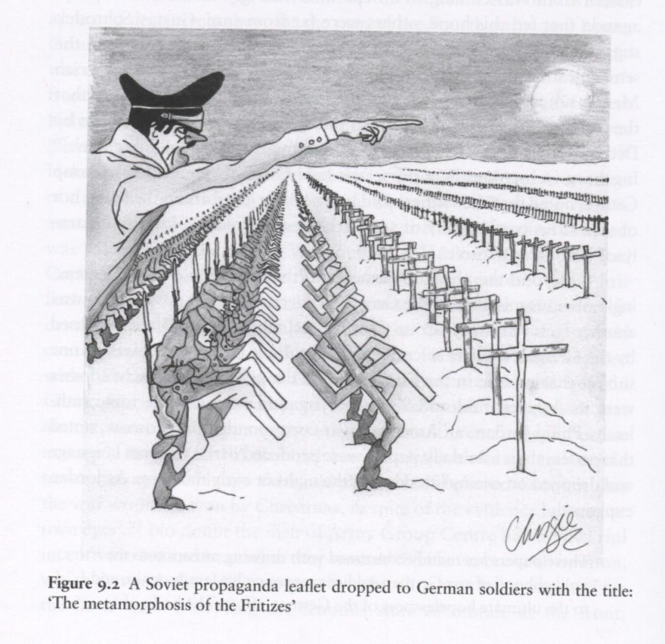 Sovjetska karikatura ofenzive njemačkih vojnika na Moskvu.