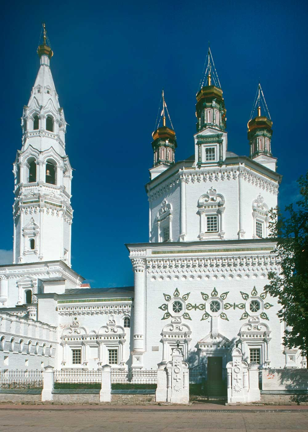 Trinity Cathedral & bell tower. South view. August 27, 1999