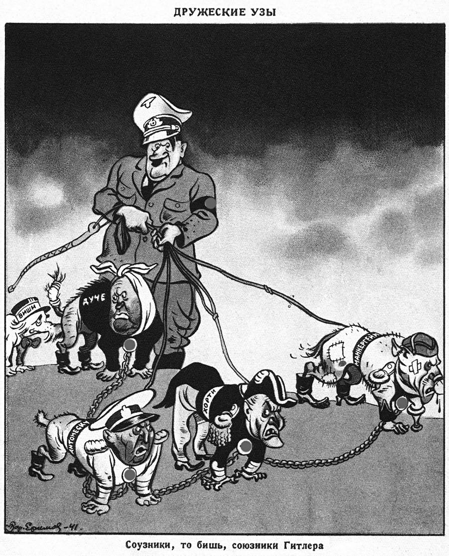 Hitler's allies: Horthy, Mannerheim, Antonescu, Duce, Vichy