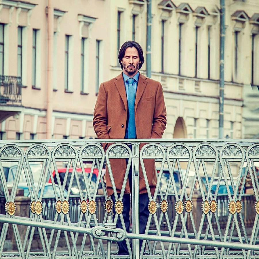 Keanu Reeves med snemanjem v Sankt Peterburgu