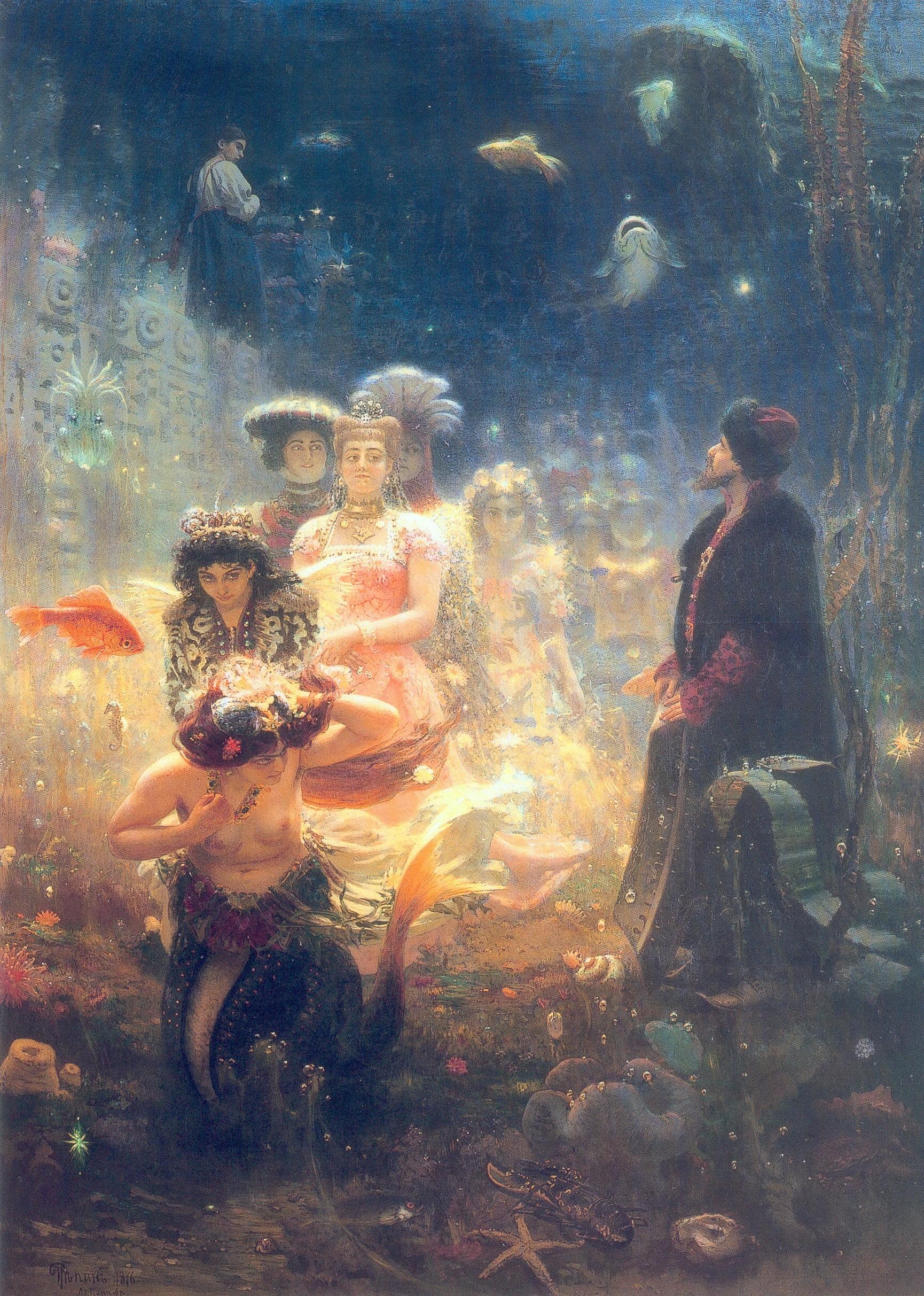 「サトコ」、イリヤ・レーピン、1876年