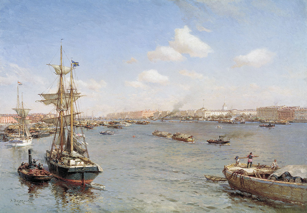Petersburgo vista do Neva, 1912