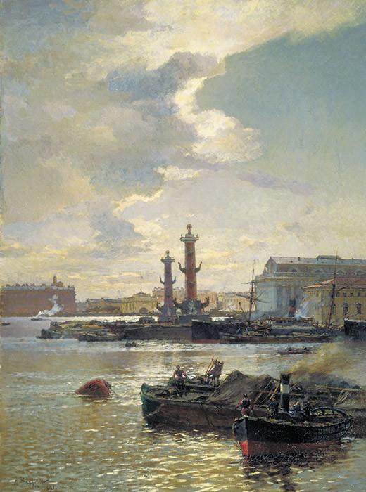 Barcaça em São Petersburgo, 1891