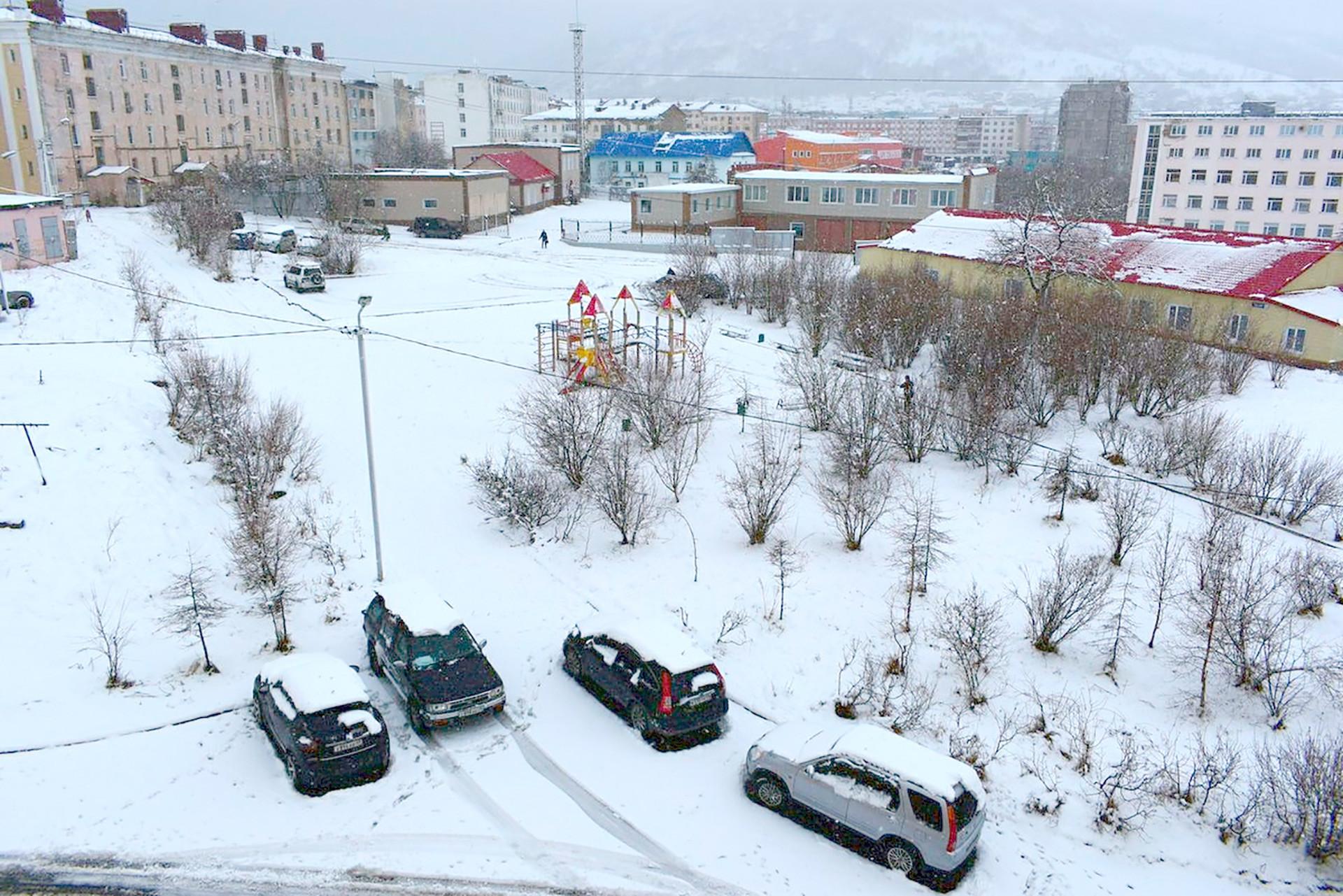Musim dingin di Magadan.
