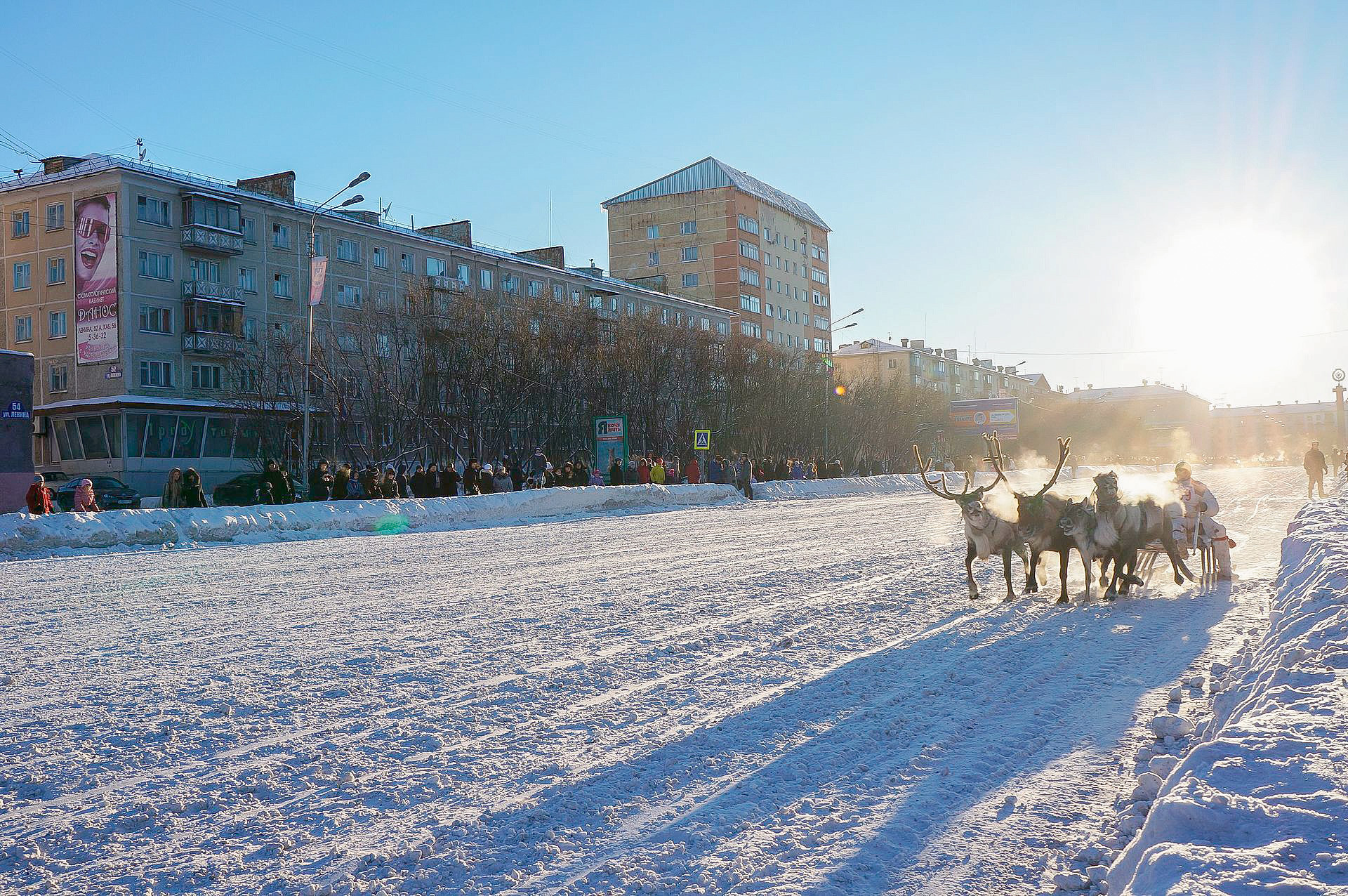 Musim dingin di Vorkuta.