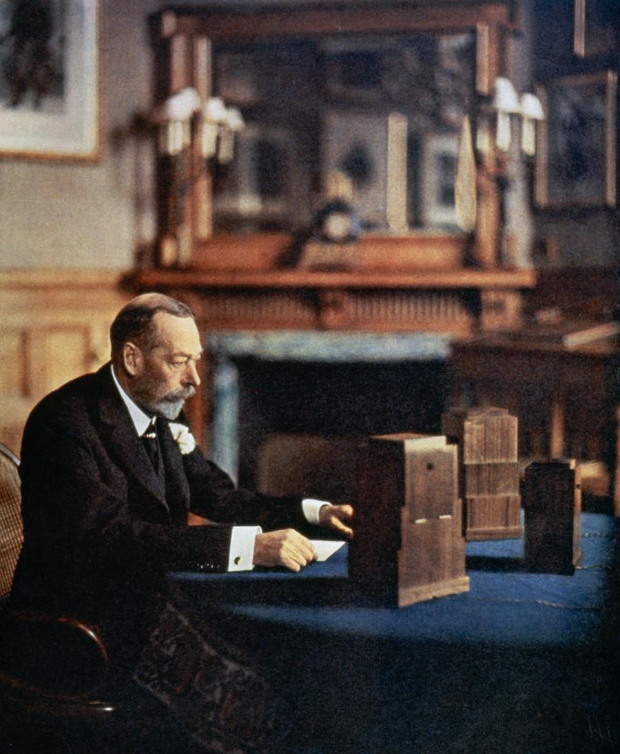 Der britische König Georg V.