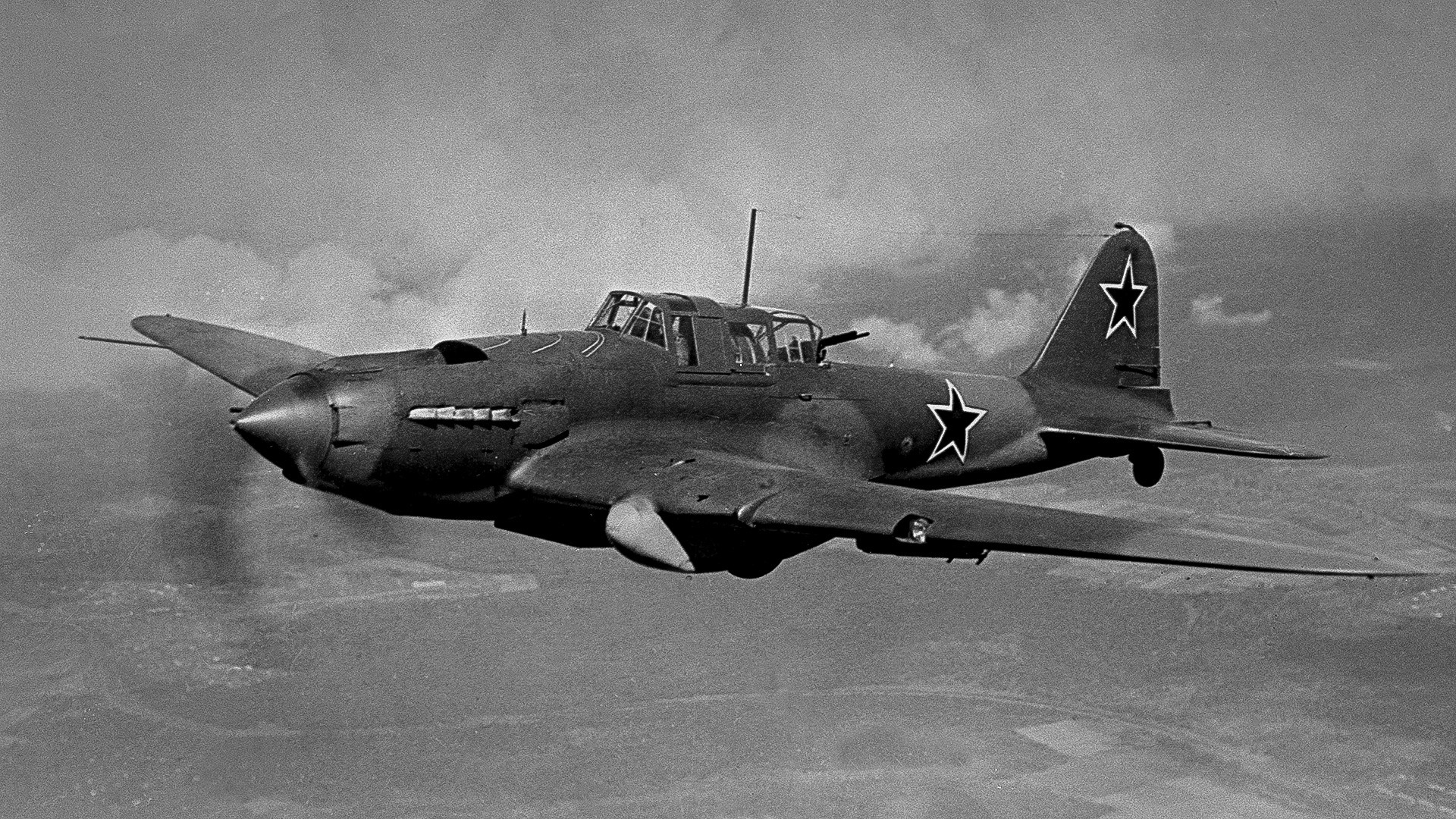 1941-1945年、大祖国戦争。対地攻撃機Il-2。