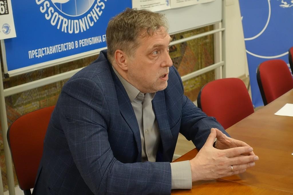 Никита Висоцки, синът на Владимир Висоцки. София, 6 октомври 2018 г.