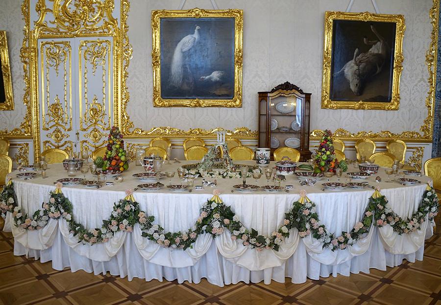 エカテリーナ宮殿の内装。