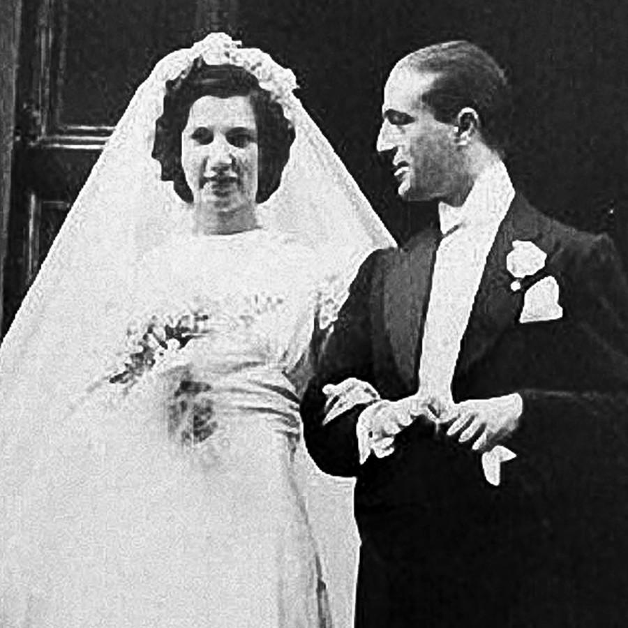 Princess Catherine Ivanovna of Russia (1915-2007) and her husband, an Italian diplomat Ruggero Farace, Marchese Farace di Villaforesta