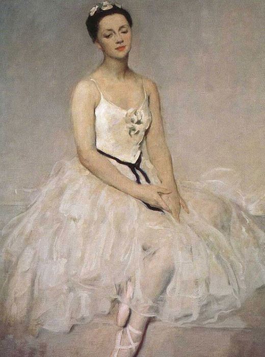 Retrato da bailarina Alla Chelest, 1949