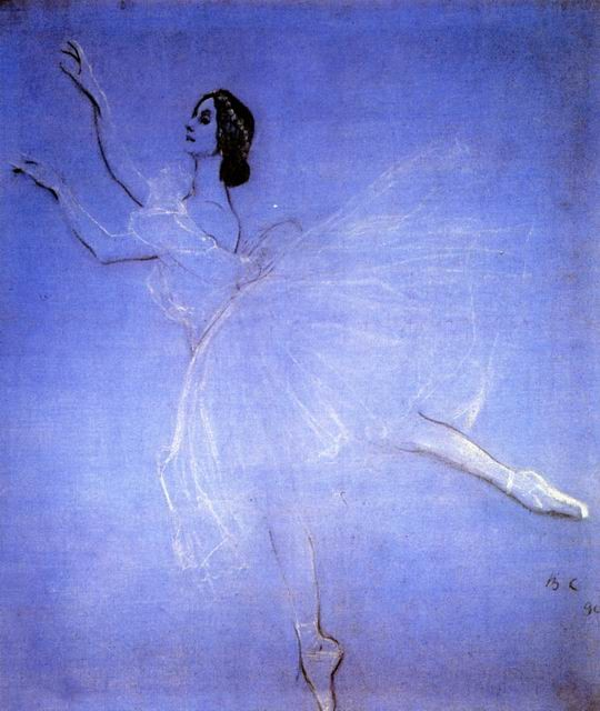 """Anna Pavlova em """"La Sylphide"""", 1909"""