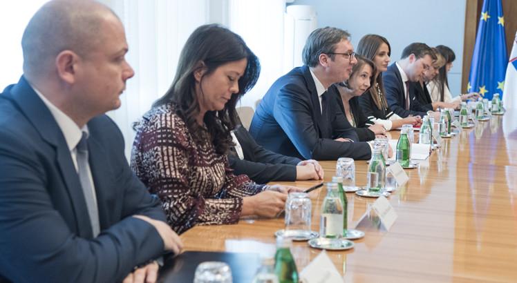 Александар Вучић на састанку са делегацијом из Русије