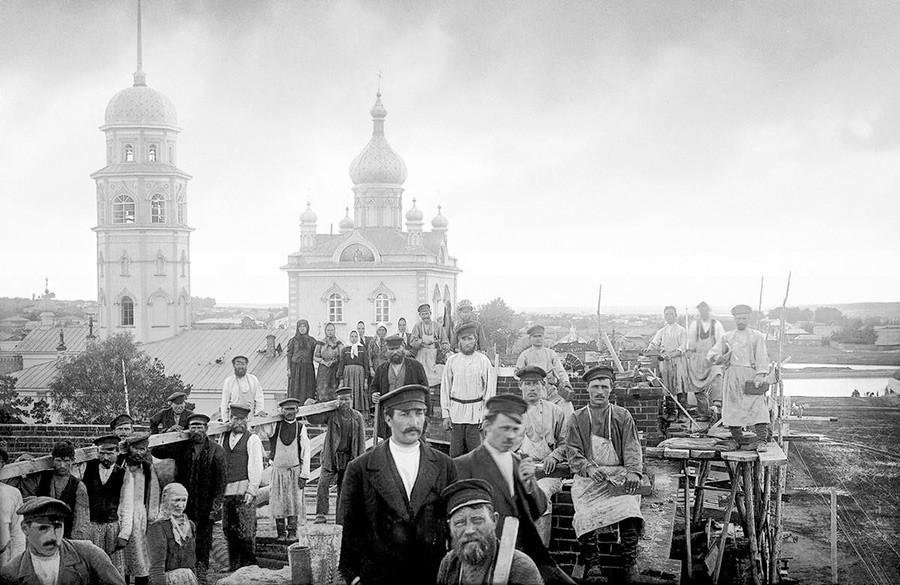 Храм Рођења Христовог. Фотографија из 1900–1915 .