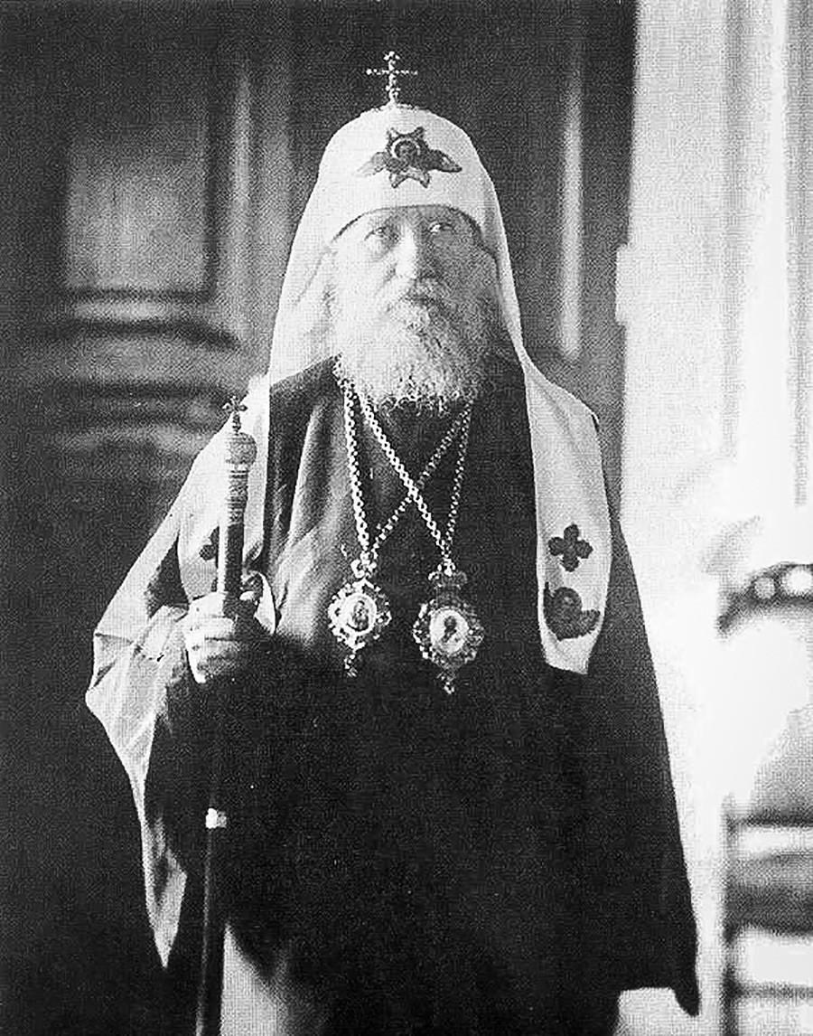 Свети Тихон (Белавин), патријарх Московски и целе Русије. Снимак из 1920-их.