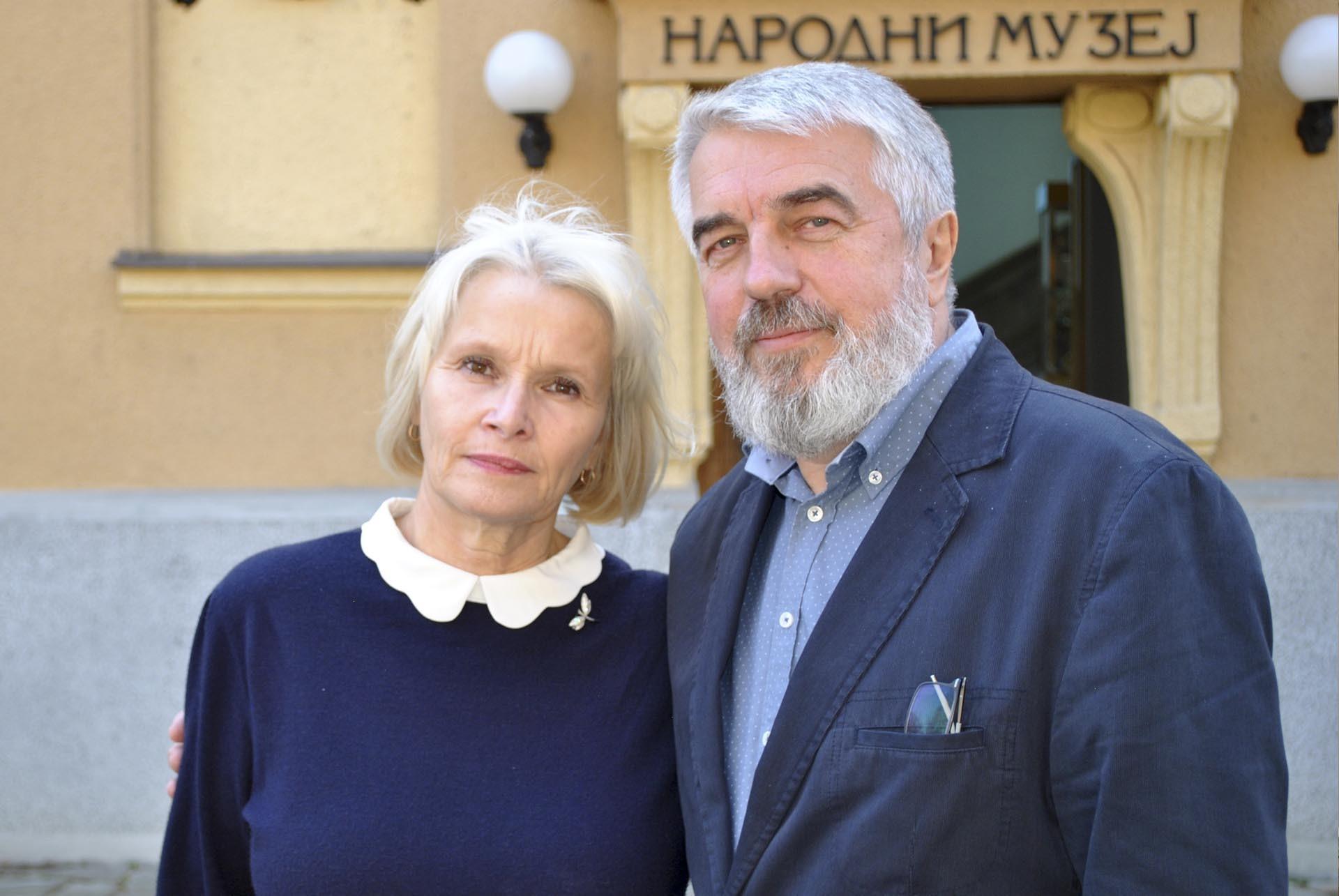 Директорка српског одељења Фонда јединства православних народа Наташа Коцев и Виктор Раков