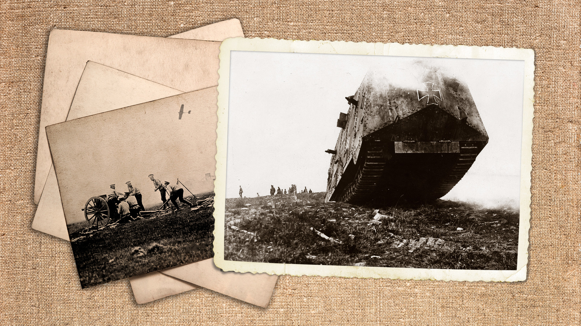 Първата световна война: германски танк A7V