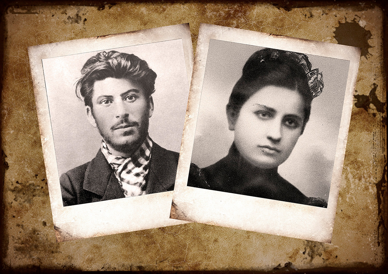 Iósif Stalin y Kato Svanidze.