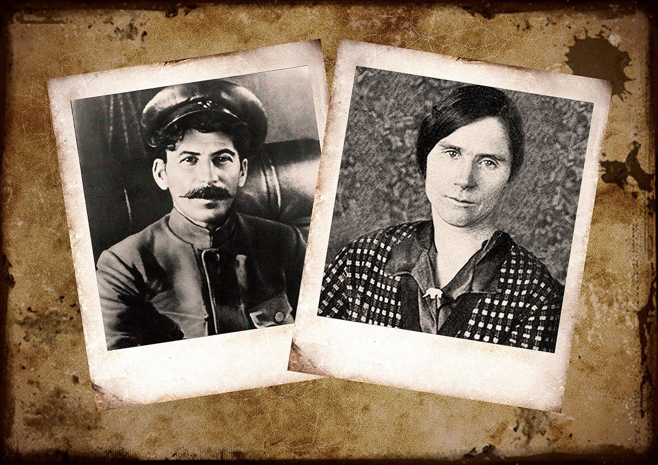 Iósif Stalin y Lida Perepríguina.