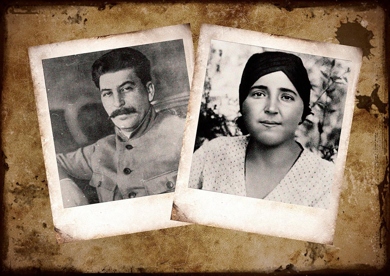 Iósif Stalin y Nadiezhda Allilúieva.
