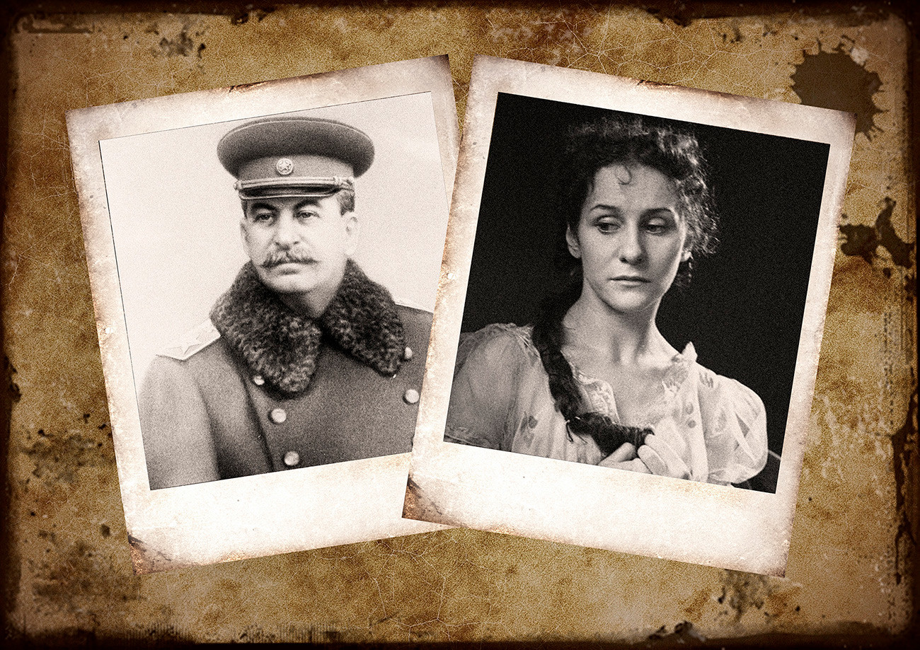 Iósif Stalin y Olga Lepeshínskaia.