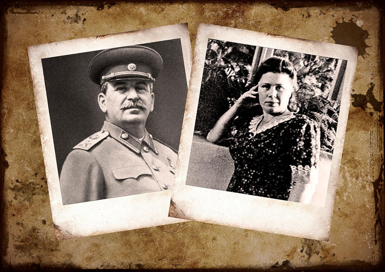 Iósif Stalin y Valia Istómina.