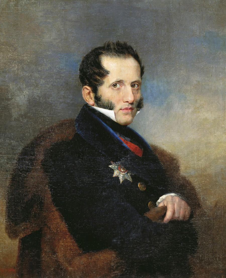 """Сергеј Уваров (1786-1855), министар образовања Русије (1833-1849), аутор """"тријаде""""."""