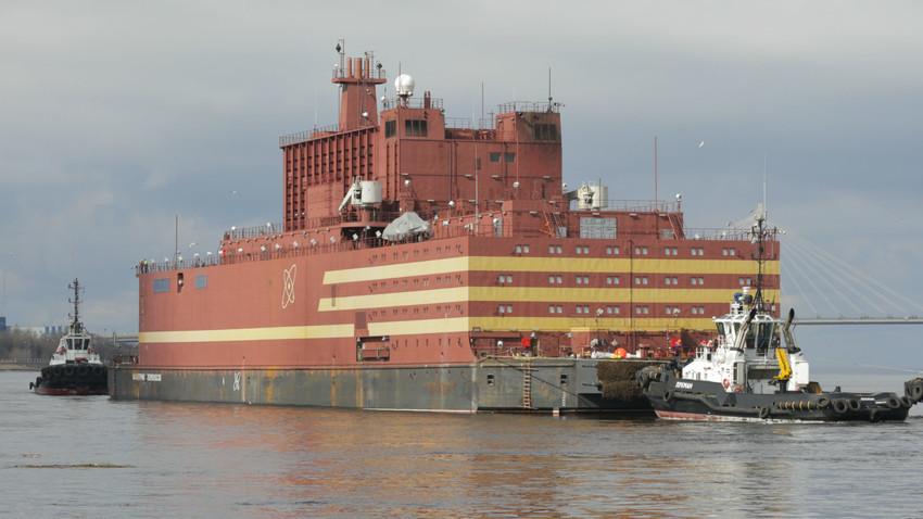 Resultado de imagen para central nuclear flotante, Académico Lomonósov