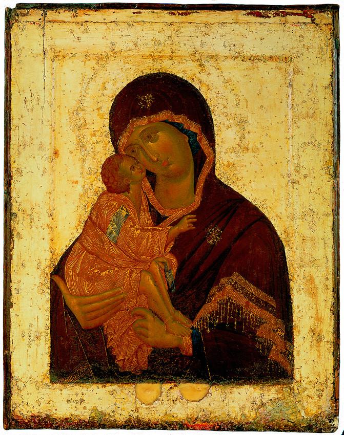 Madre de Dios Kazanskaya Salvador ortodoxa rusa milagroso icono díptico