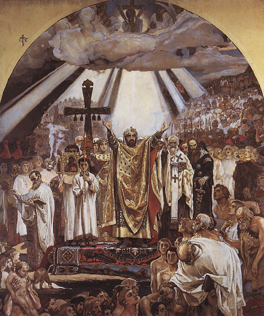 'Christianization of Rus' by Viktor Vasnetsov