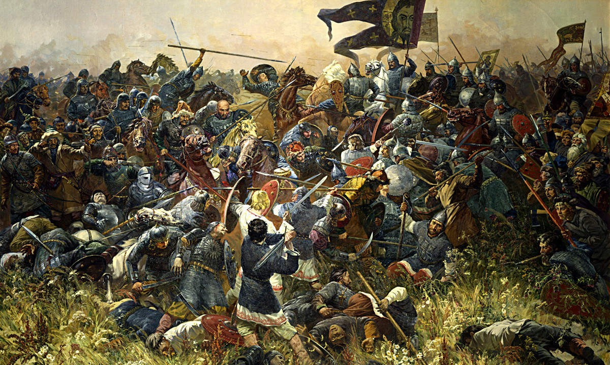 'Battle at Kulikovo' by Sergey Prisekin