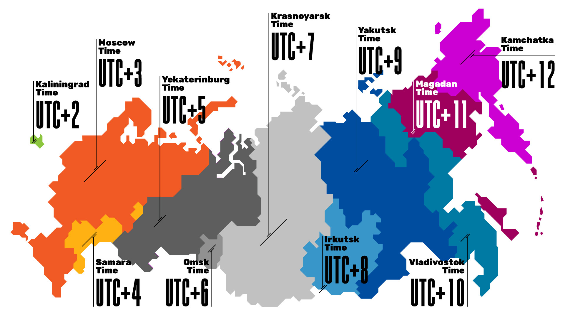 Time Zones In Russia Map.How Many Times Zones Are There In Russia Russia Beyond