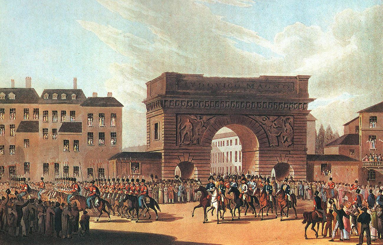 Улазак руске војске у Париз.